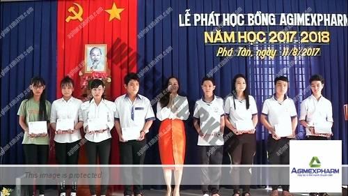Hội khuyến học tỉnh An Giang trao học bổng của Công ty Cổ phần Dược phẩm Agimexpharm