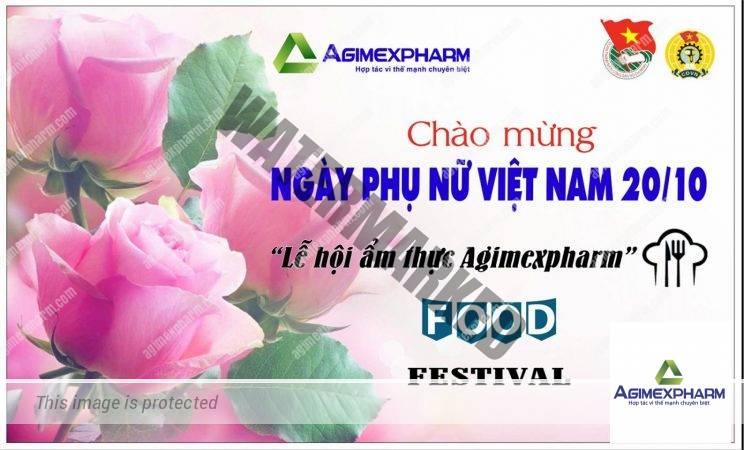 Lễ hội ẩm thực Agimexpharm – Chào mừng ngày phụ nữ Việt Nam 20/10